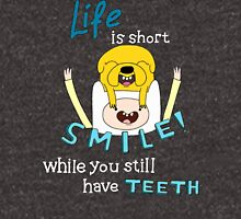 Smile! with Adventure Time (dark/ colour background version) Unisex T-Shirt