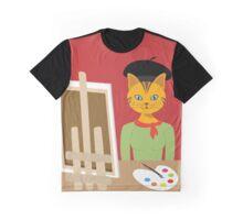 Salvador Kitty cat kitten paint artist Graphic tee vector cat design Graphic T-Shirt