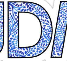 IUDM blue pattern Sticker