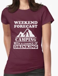 Camping with a chance of drinking Womens Fitted T-Shirt