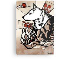 Wolf Ukiyo-e Metal Print