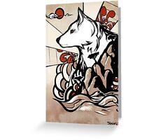 Wolf Ukiyo-e Greeting Card