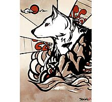 Wolf Ukiyo-e Photographic Print