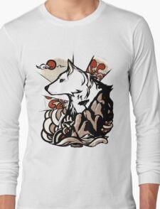 Wolf Ukiyo-e Long Sleeve T-Shirt