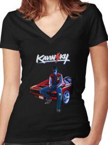 Kavinsky Women's Fitted V-Neck T-Shirt