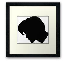 Matt Smith Side Profile Silhouette Framed Print