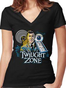 Twilight Zone Women's Fitted V-Neck T-Shirt