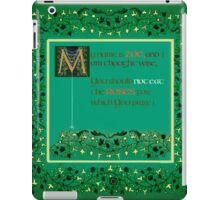 My name is Zoe, and I am thought wise, iPad Case/Skin