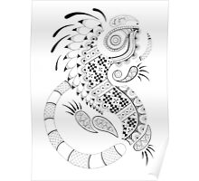 Paisley Iguana Poster