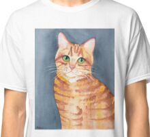 Ginger Tabby Watercolor  Classic T-Shirt