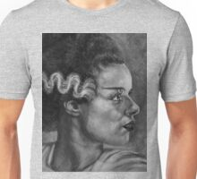 Elsa Lancester is 'The Bride of Frankenstein' in B/W Unisex T-Shirt