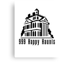 999 Happy Haunts Canvas Print