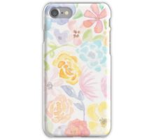 Original Watercolor Floral Print - Spring iPhone Case/Skin