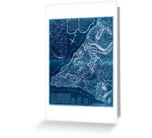 American Revolutionary War Era Maps 1750-1786 225 A plan of the city of New York & its environs to Greenwich on the north or Hudsons River and to Crown Point Inverted Greeting Card