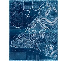 American Revolutionary War Era Maps 1750-1786 225 A plan of the city of New York & its environs to Greenwich on the north or Hudsons River and to Crown Point Inverted Photographic Print