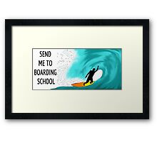 Boarding School: Surfer Framed Print