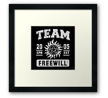 Team Freewill Framed Print