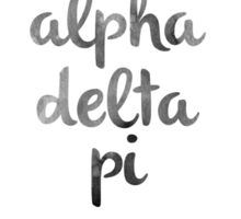 Alpha Delta Pi Watercolors Sticker