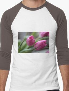 Pink tulips Men's Baseball ¾ T-Shirt
