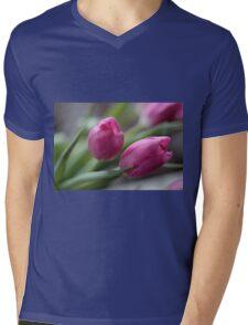Pink tulips Mens V-Neck T-Shirt