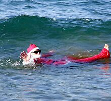 Santa Hits The Mediterranean - Crete Greece by mikequigley