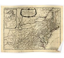 American Revolutionary War Era Maps 1750-1786 030 A general map of the middle British colonies in America 01 Poster