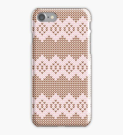 Brown and Pink Knit  iPhone Case/Skin