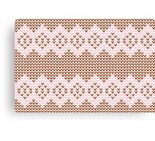 Brown and Pink Knit  Canvas Print