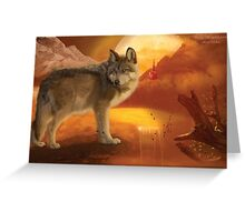 Wolf Mountain Greeting Card