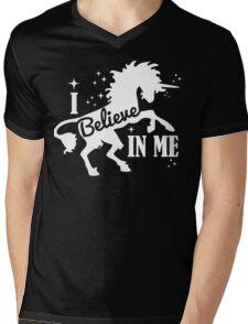 Believe - White Mens V-Neck T-Shirt