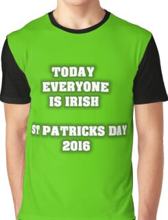 St Patricks day 2016 Colour Graphic T-Shirt