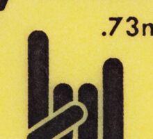 FENDER PICK YELLOW Sticker