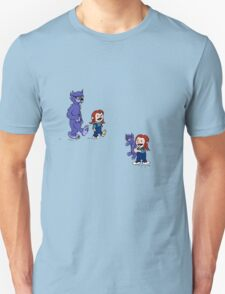 calvin and hobbes meets hanks and raven T-Shirt