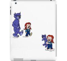 calvin and hobbes meets hanks and raven iPad Case/Skin