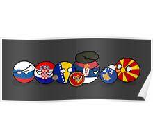 Polandball - Yugoslavia family portrait Poster