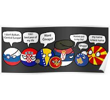 Polandball - Yugoslavia family portrait with dialogues Poster