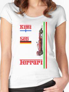 Ferrari 2016: Vettel, Raikkonen Women's Fitted Scoop T-Shirt