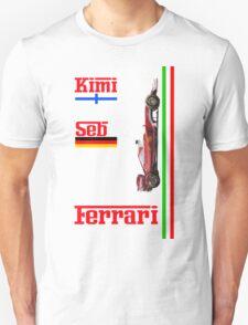 Ferrari 2016: Vettel, Raikkonen Unisex T-Shirt