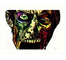 Walking Dead Zombie Ghoul Art Print