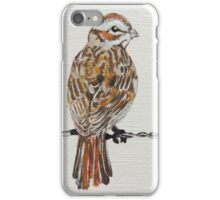 sparrow on barbed wire iPhone Case/Skin