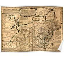 American Revolutionary War Era Maps 1750-1786 039 A general map of the middle British colonies in America 09 Poster