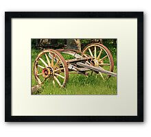 Wagon Wheels and Axle Framed Print