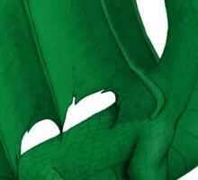 Green Pirate Dragon Sticker