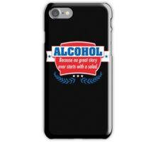 alcohol salad iPhone Case/Skin