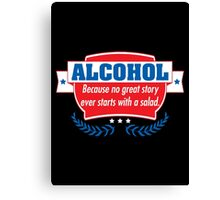 alcohol salad Canvas Print