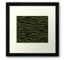 0018 Army Green Tiger Framed Print
