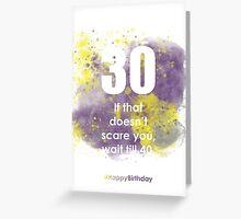 30-PurpleThunderA | AgeIsJustANumber Greeting Card