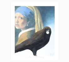 Crow with Pearl Earring Unisex T-Shirt