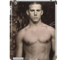 Vintage Young Channing Tatum iPad Case/Skin