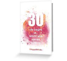 30-AugustApricotA | AgeIsJustANumber Greeting Card